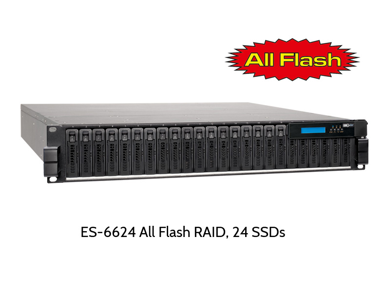 EUROstor ES-6600 All Flash RAID mit 24 SSDs
