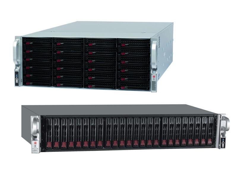 EUROstor Server mit 24 Festplattenslots