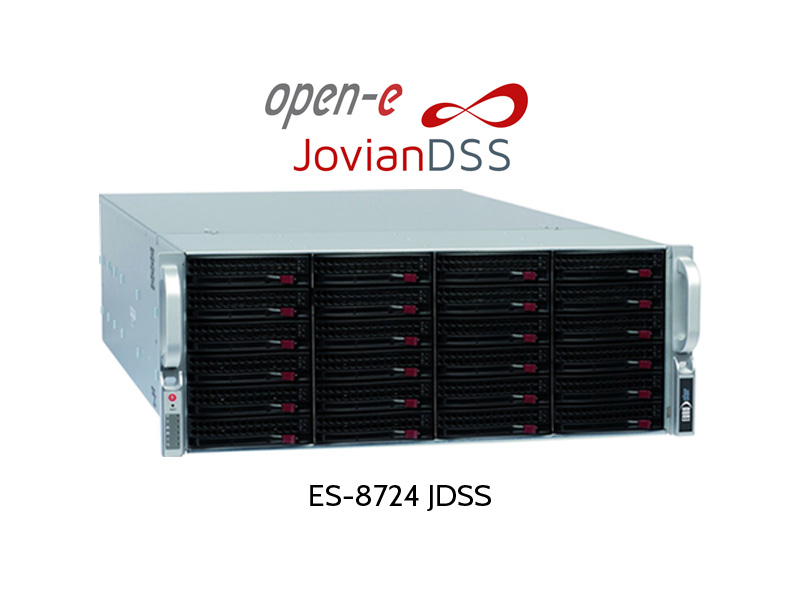 ES-8700: iSCSI/NAS/FC Server with Open-E JDSS & ZFS