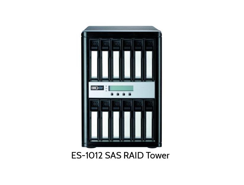 ES-1000 SAS RAID mit 12 Festplatten