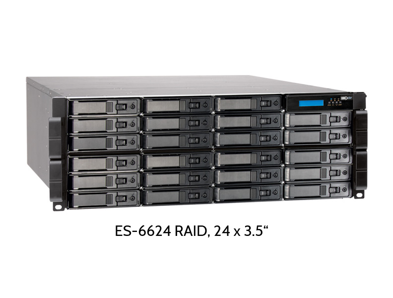 EUROstor ES-6600 RAID mit 24 Festplattenslots