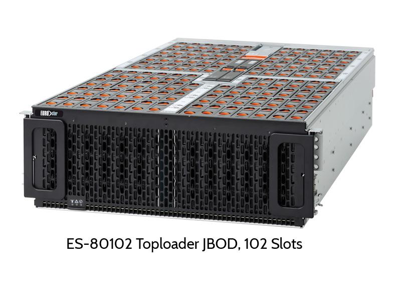 EUROstor ES-80102H SAS Toploader JBOD mit 102 Festplattenslots