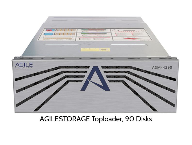 AGILESTORAGE Toploader mit 90 Festplatten