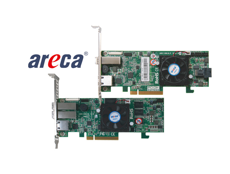 Areca RAID controller for PCIe bus
