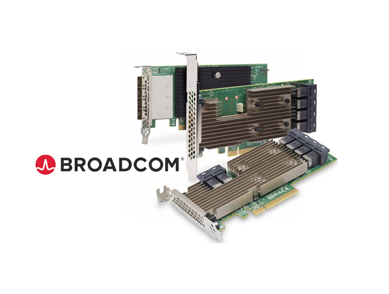 16 Gbit SAS host adapter from Broadcom (LSI-9300)