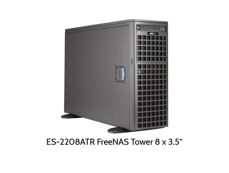 EUROstor ES-2208TFreeNAS Tower mit 8 Slots