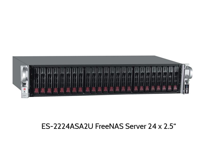 EUROstor ES-2224ASA2U FreeNAS Server mit 24 Slots