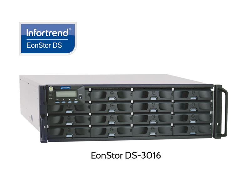Infortrend EonStor DS-3016, RAID with 16 disk slots