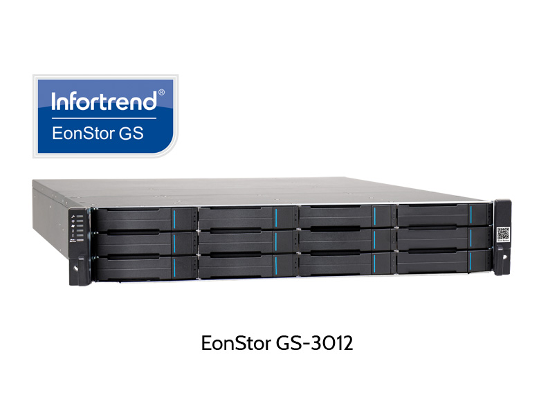 Infortrend EonStor GS-3012, NAS, iSCSI and cloud RAID