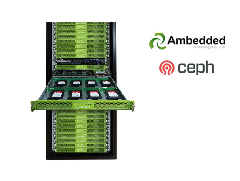 Ambedded Ceph Cluster im Serverschrank