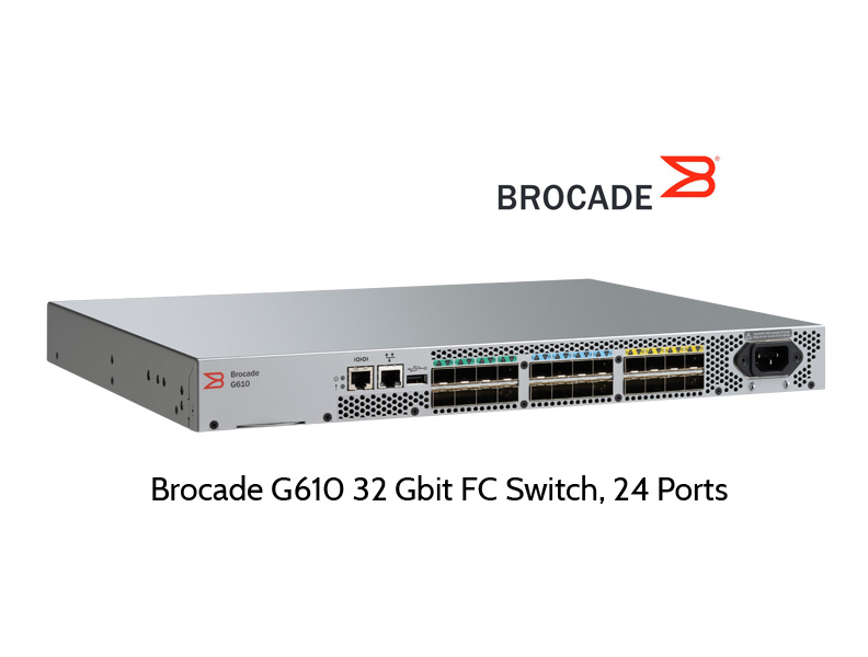 Brocade G610 - 32 Gbit Fibre Channel Switch