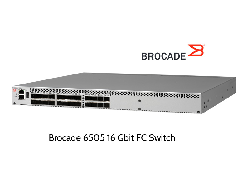 Brocade Fibre Channel Switches with 32 Gbit/s data rate