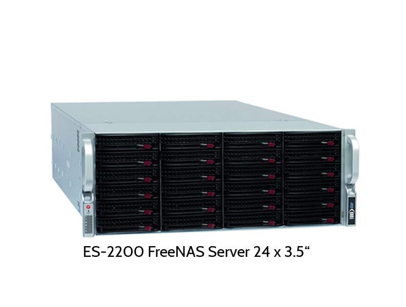 EUROstor ES-2200 FreeNAS Server mit 24 Slots