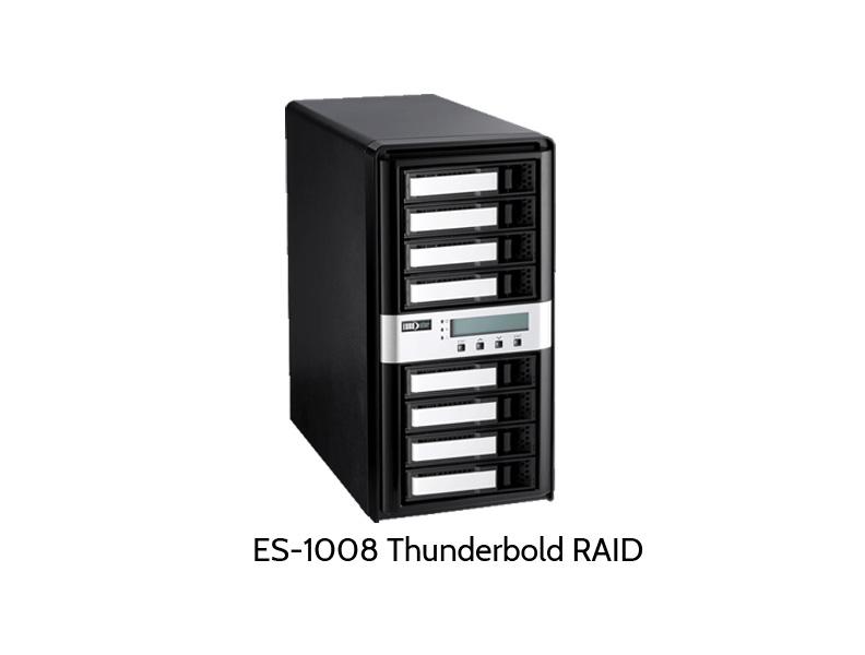 ES-1000 Thunderbold RAID mit acht Festplatten