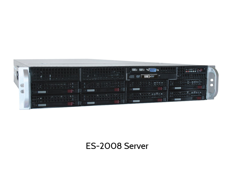 EUROstor WSS Server mit acht Festplatten