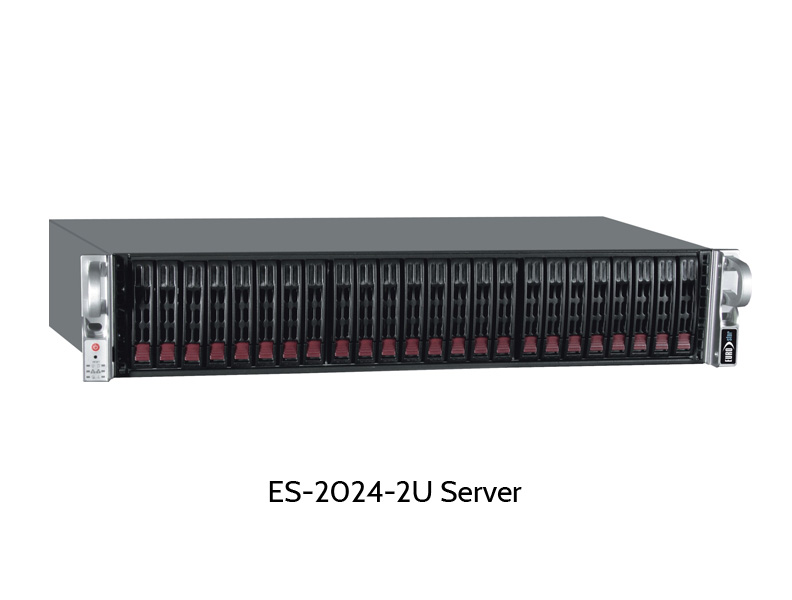 "EUROstor ES-2000 Windows Storage Server, 24 2.5"" disks"