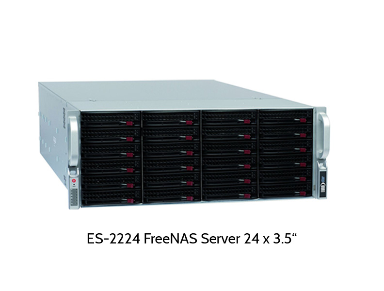 EUROstor ES-2000 Windows Storage Server mit 24 Festplatten