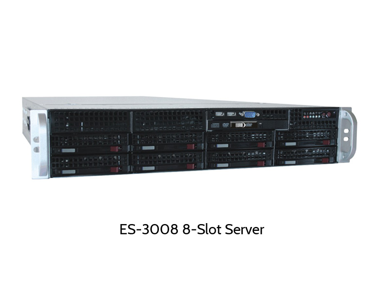 EUROstor dual socket server with 8 disk slots