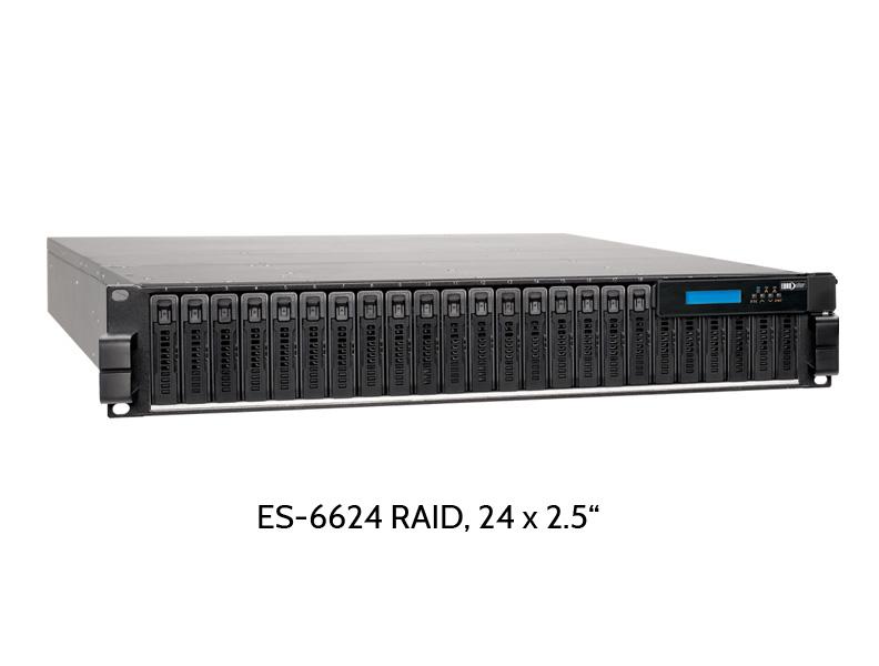 EUROstor ES-6600 RAID with 24 2.5-inch disk slots