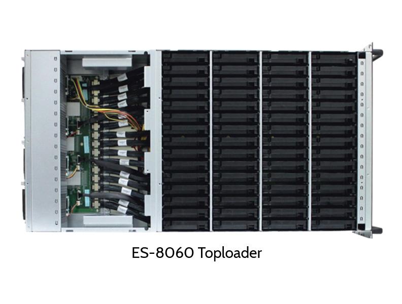 EUROstor ES-8060 Toploader, open cover