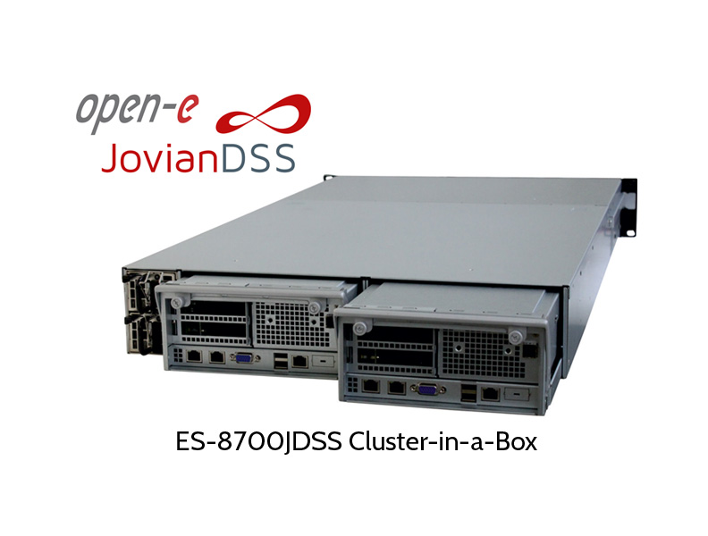 EUROstor ES-8700 ZFS cluster in a box, rear view