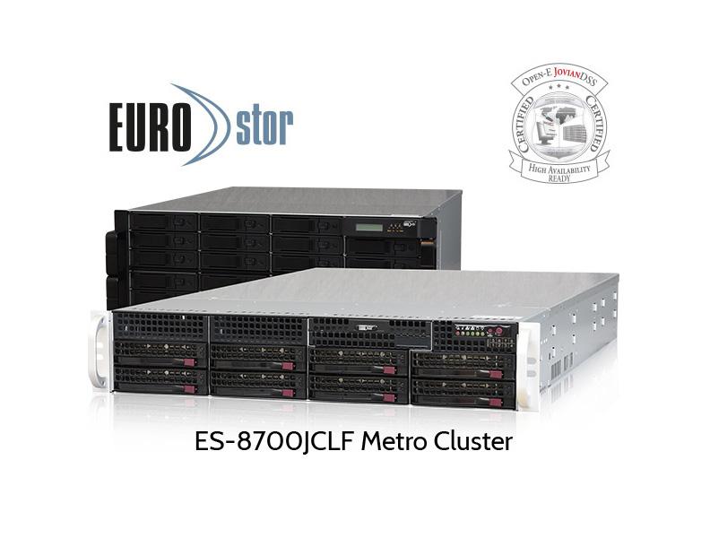 ES-8700JCLF Cluster Head und JBOD für Metro Cluster