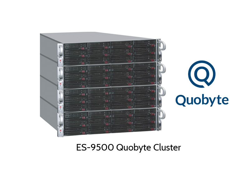 ES-9500 Qhobyte Scale-Out Cluster, 4 Knoten