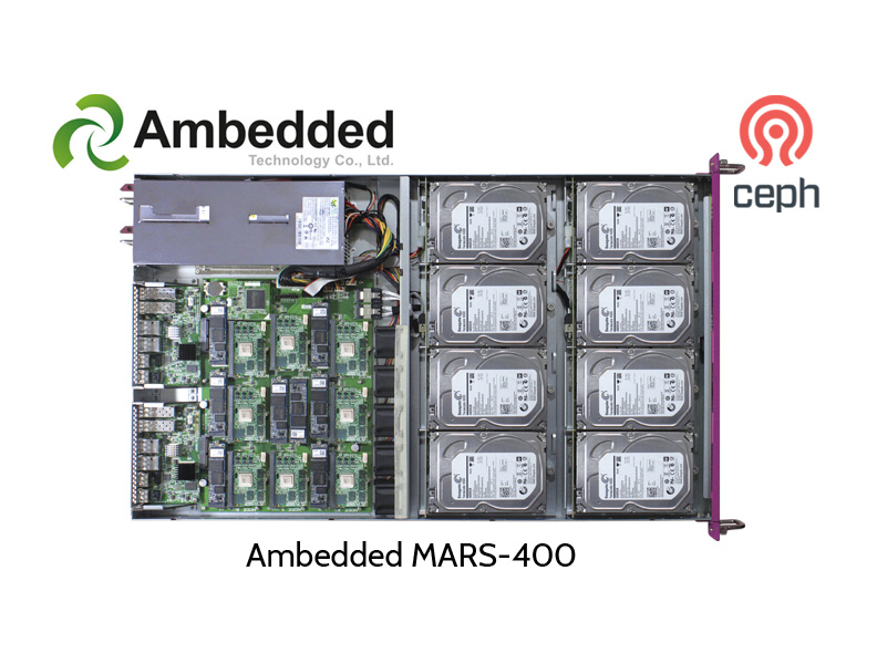 Ambedded MARS-200 Ceph Cluster, open cover